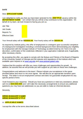 Internal Employee Cover Letter