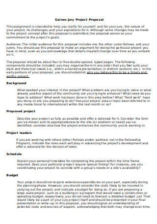 Jury Project Proposal