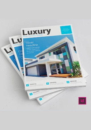 Luxury Real Estate Brochure InDesign