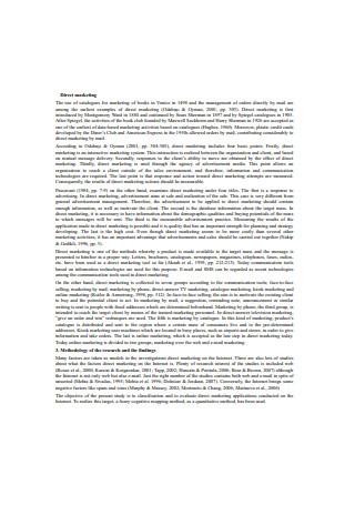 Management Direct Marketing Sample