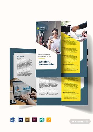 Marketing Business Tri Fold Brochure Template