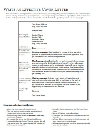 Marketing Employee Cover Letter and Resume