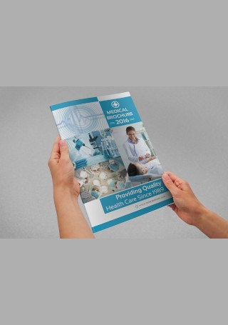 Medical Bifold Brochure InVector EPS