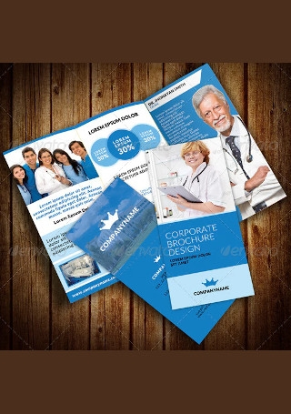 Medical Hospital Health Tri Fold Brochure