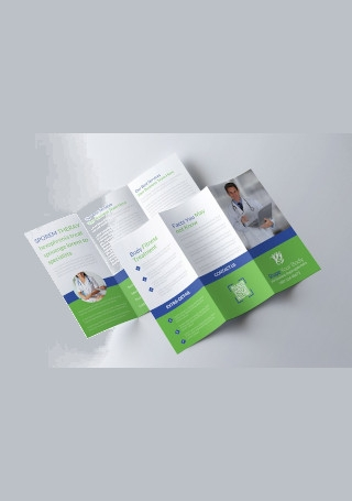 Medical Trifold Brochure Sample