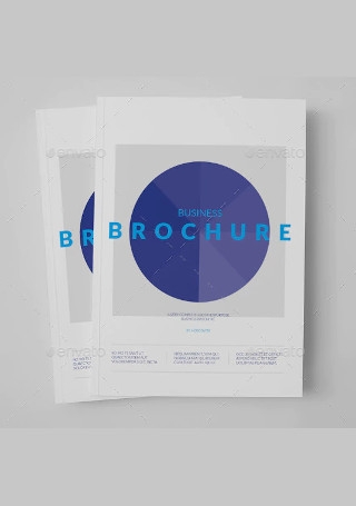 Minimal Business Brochure in Vector EPS