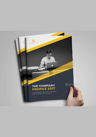Minimal Company Brochure in Vector EPS