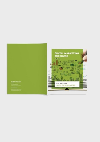 Minimal Marketing Brochure in Vector EPS