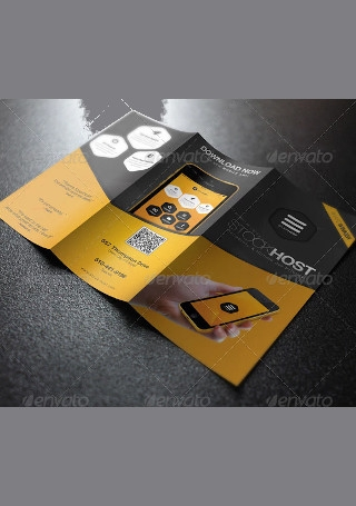 Mobile App Trifold Presentation Brochure