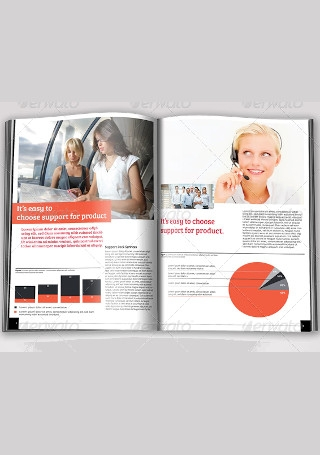 Modern Business Brochure in Vector EPS1