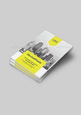 Modern Company Profile Brochure InDesign