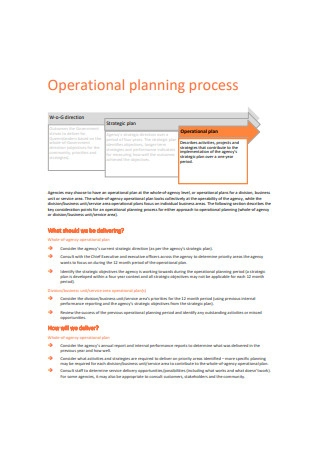 Operational Planning Process Sample