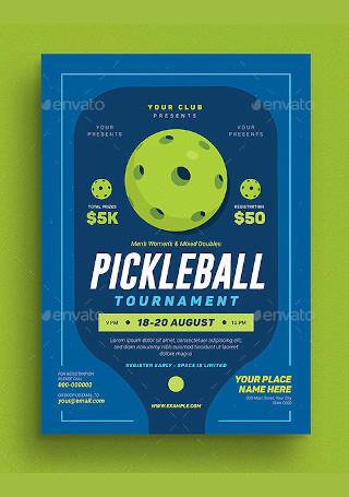 PickleBall Tournament Event Flyer