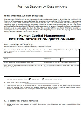 Position Description Questionnaire