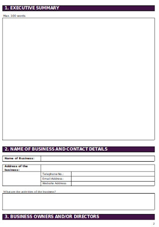 Printable Business Plan Sample