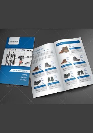 Product Brochure In Vector EPS