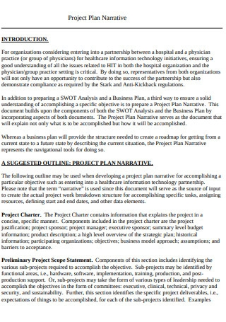 Project Plan Narrative Sample