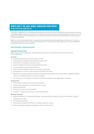 Project Plan and Design Review