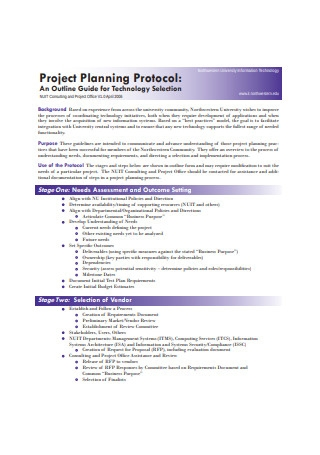 Project Planning Protocol