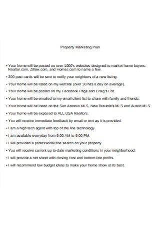 Property Marketing Plan