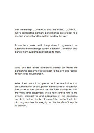 Public Partnership Contract