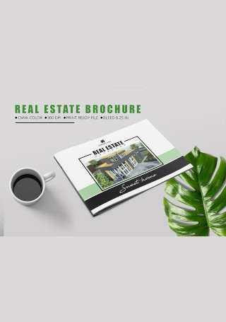 Real Estate Brochure in Vector EPS