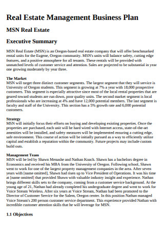 Real Estate Management Business Plan