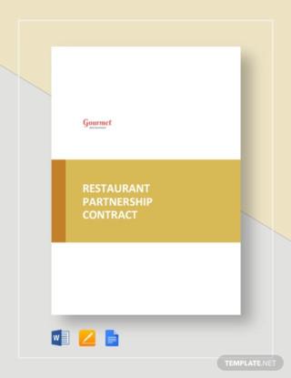 Restaurant Partnership Contract