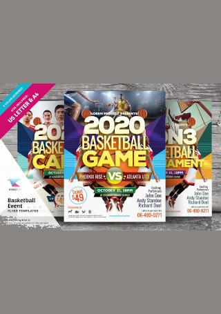 Retro Basketball Event Flyer