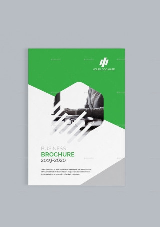 Retro Business Brochure in Vector EPS