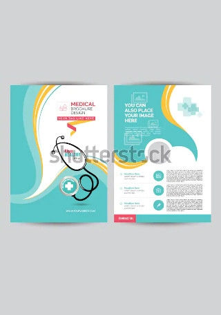 Retro Medical Brochure InDesign