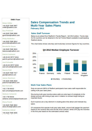 Sales Compensation Multi Year Plan
