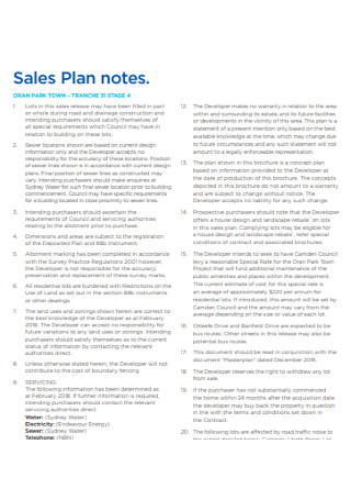 Sales Plan notes Example