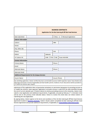 Sample Business Contract Application