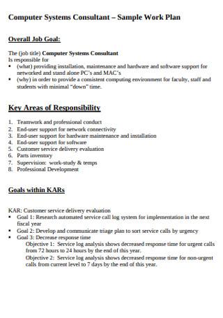 Sample Computer System Work Plan