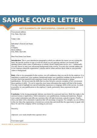 Sample Cover Letter Flyer