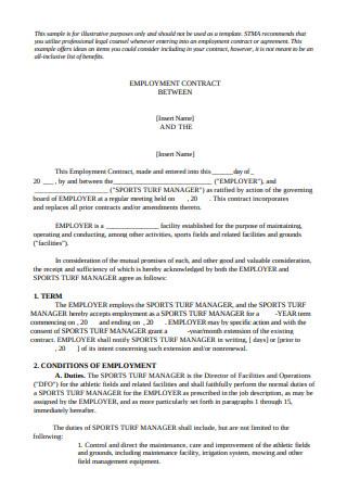 Sample Employment Agreements