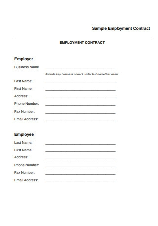 Sample Employment Contract in PDF1