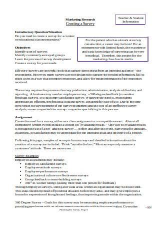 Sample Market Research Survey