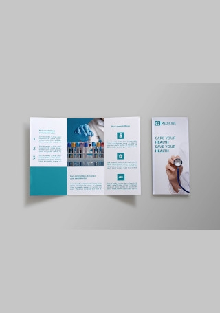 Sample Medicine Tri fold Brochure