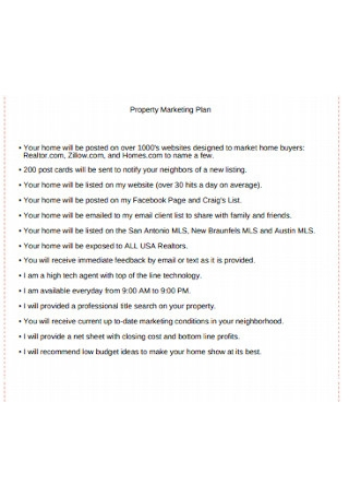Sample Property Marketing Plan