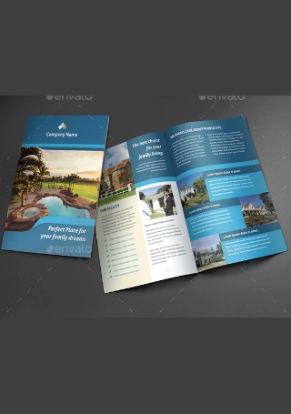 Sample Real Estate Brochure InDesign