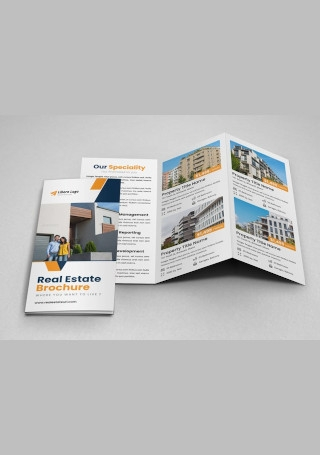 Sample Real Estate Trifold Brochure InDesign