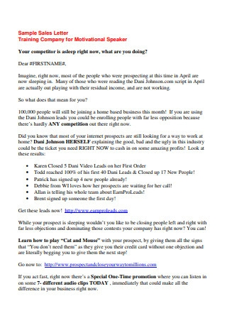 Sales Prospecting Letter Samples from images.sample.net