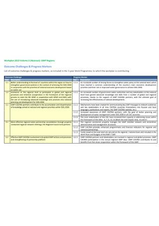 Sample Work Plan