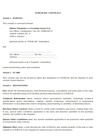 Simple Purchase Contract