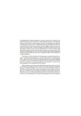 Small Business Contract Handbook