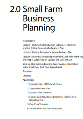 Small Farm Business Planning