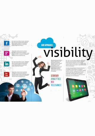 Social Media and Mobile Marketing Trifold Brochure