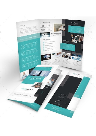 Software Company Trifold Brochure